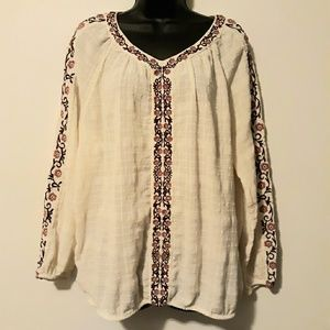 Boho, peasant like blouse
